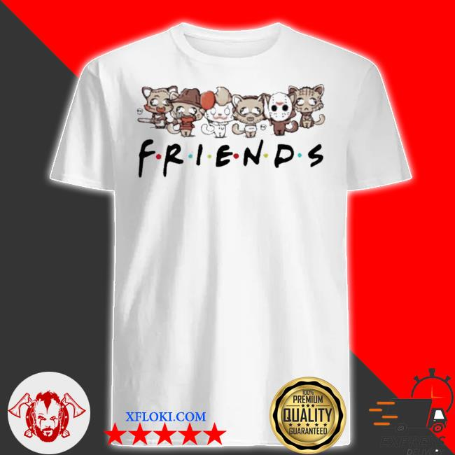 Horror characters cat friends shirt