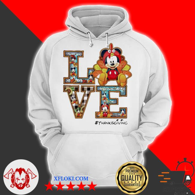 Mickey mouse love thanksgiving s hoodie