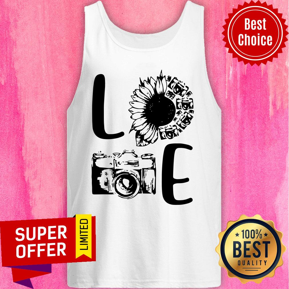 Nice Love Camera Sunflower Tank Top