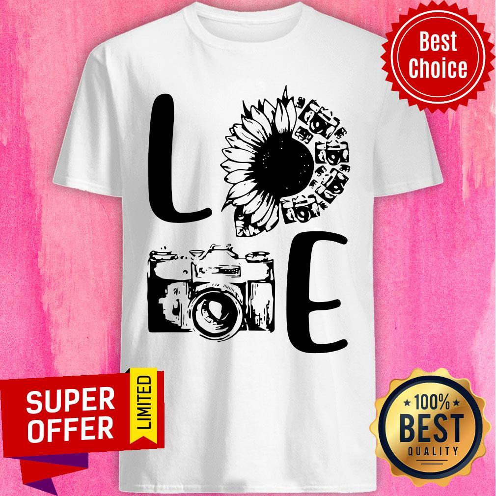 Nice Love Camera Sunflower Shirt