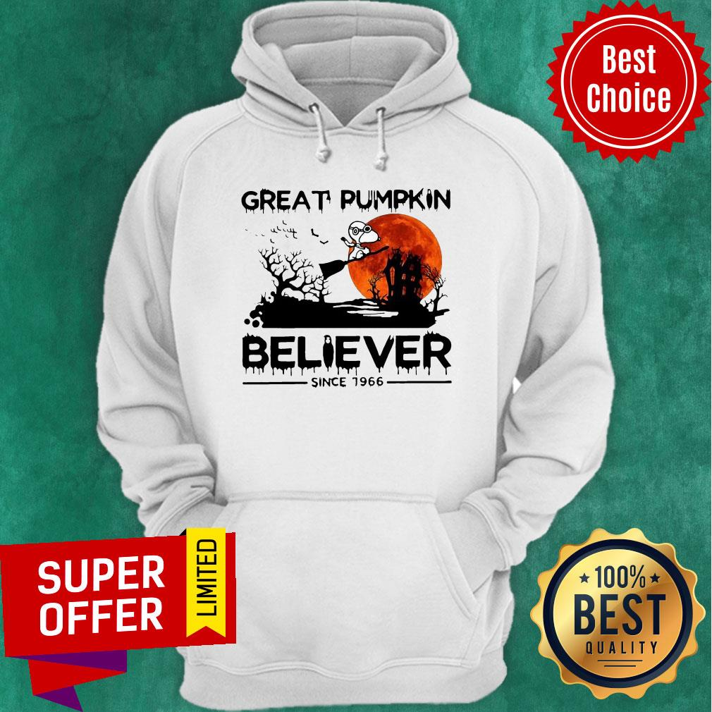 Nice Snoopy Great Pumpkin Believer Since 1966 Halloween Hoodie