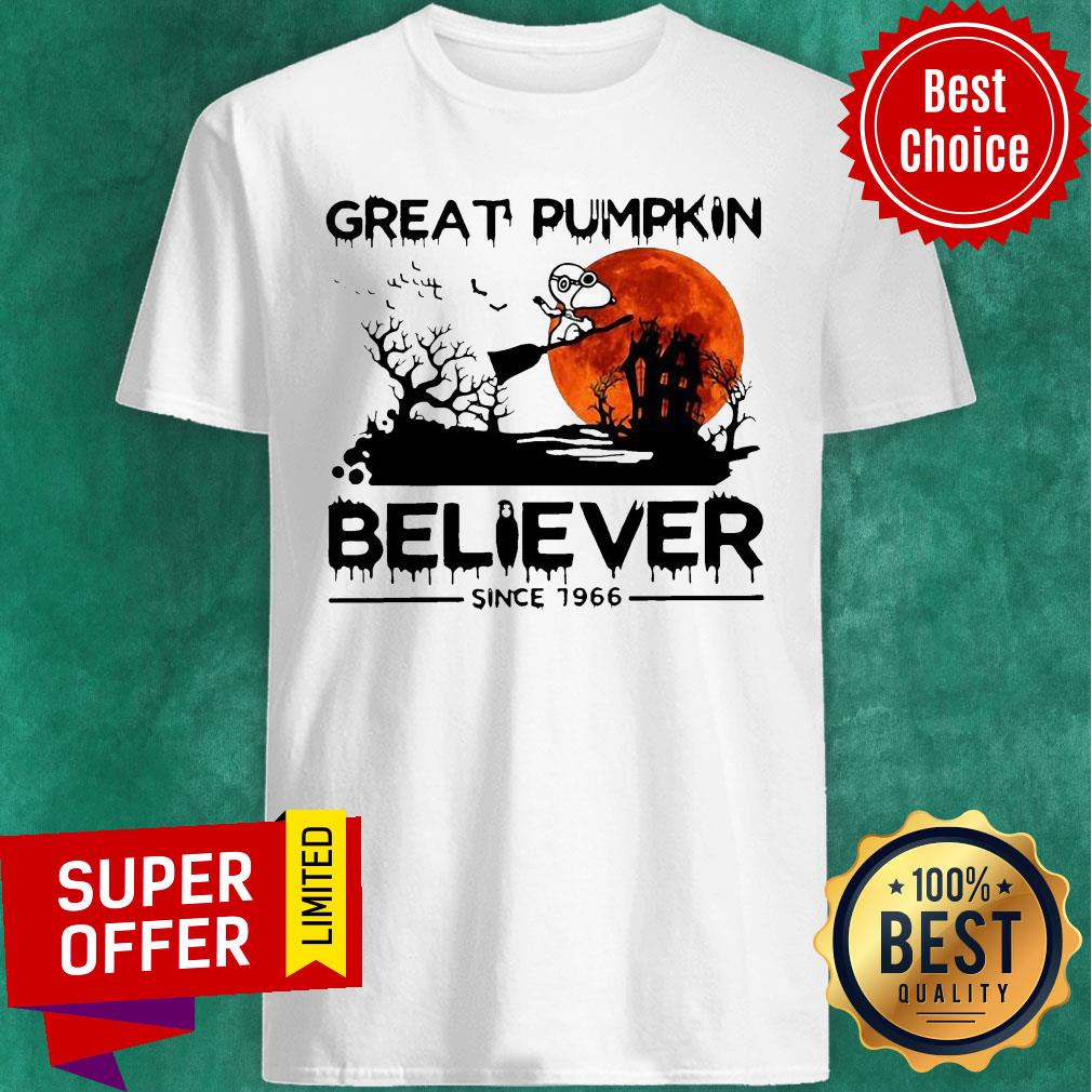 Nice Snoopy Great Pumpkin Believer Since 1966 Halloween Shirt