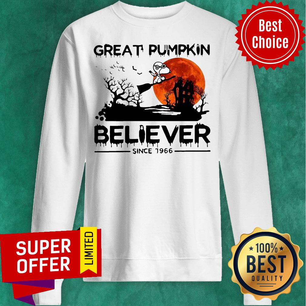 Nice Snoopy Great Pumpkin Believer Since 1966 Halloween Sweatshirt