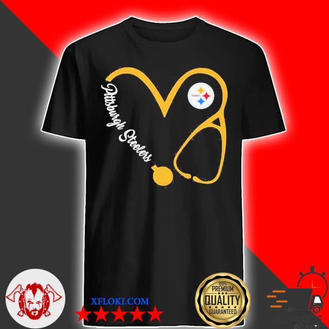 Pittsburgh steelers football stethoscope heart shirt