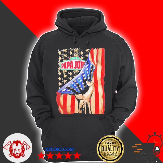 Pizza papa john american flag independence s hoodie