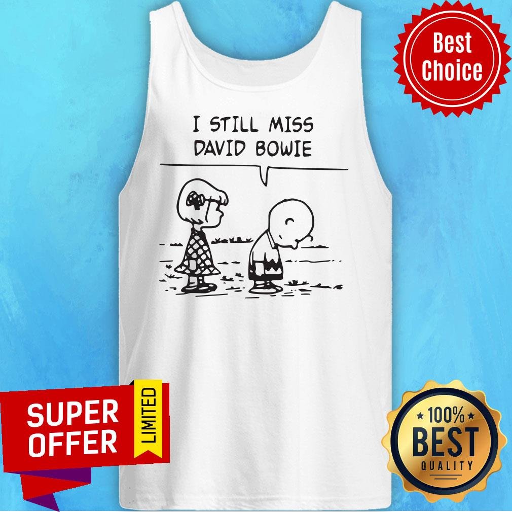 Premium Charlie Brown I Still Miss David Bowie Tank Top