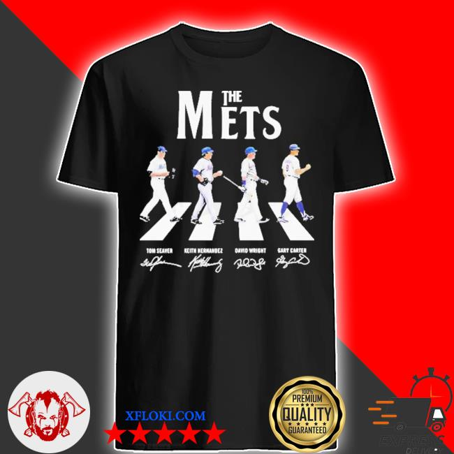 The new york mets baseball abbey road signatures shirt