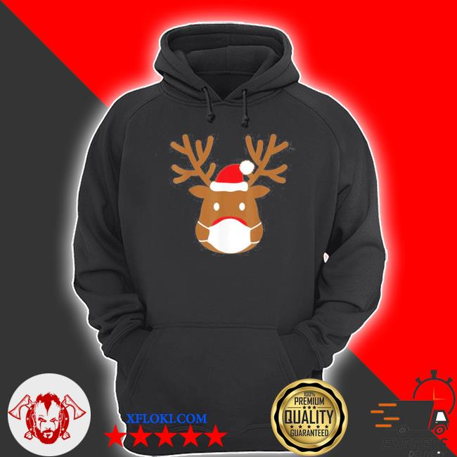 2020 Reindeer with face mask ugly christmas sweater hoodie