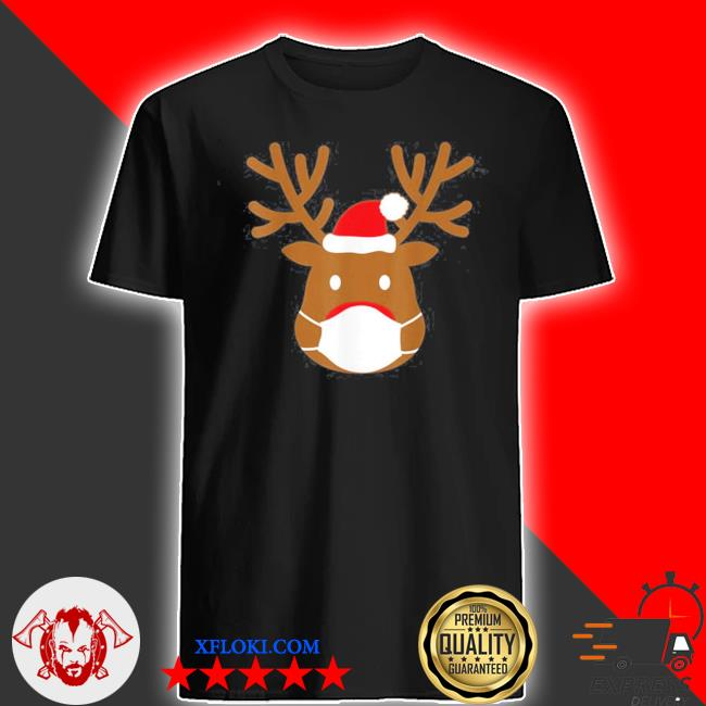 2020 Reindeer with face mask ugly christmas sweater
