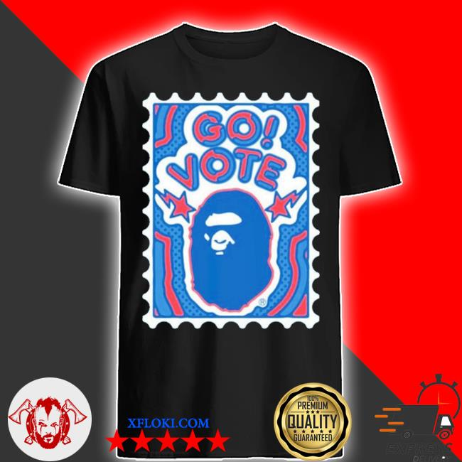 Bape go vote #2 black shirt