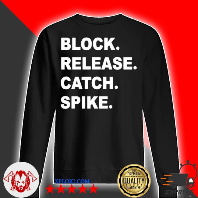 Block release catch spike s sweater