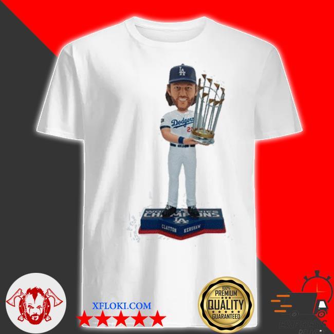 Clayton kershaw los angeles dodgers 2020 world series champions mlb shirt