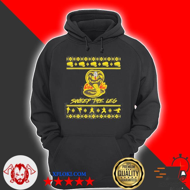Cobra kai sweep the leg ugly christmas sweater hoodie