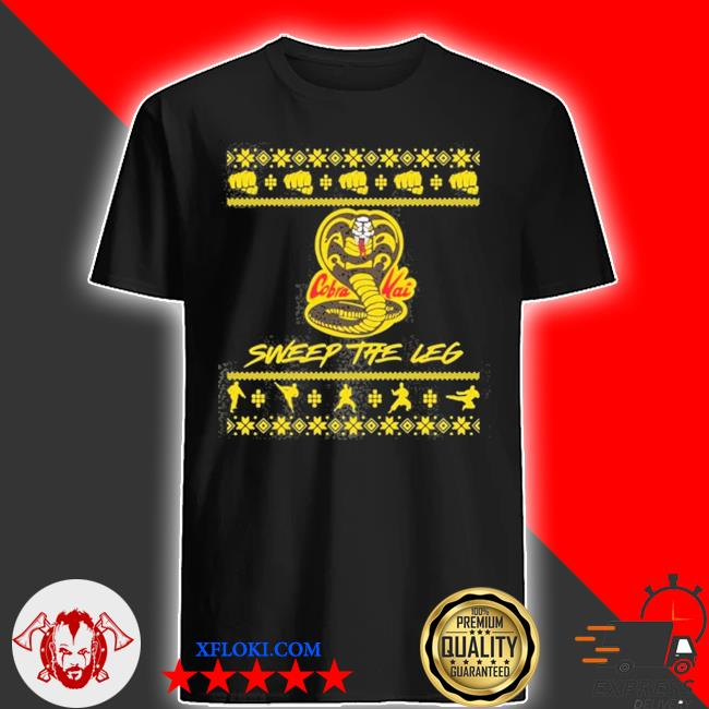Cobra kai sweep the leg ugly christmas sweater