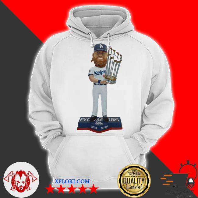 Justin turner member los angeles dodgers 2020 world series champions bobblehead s hoodie