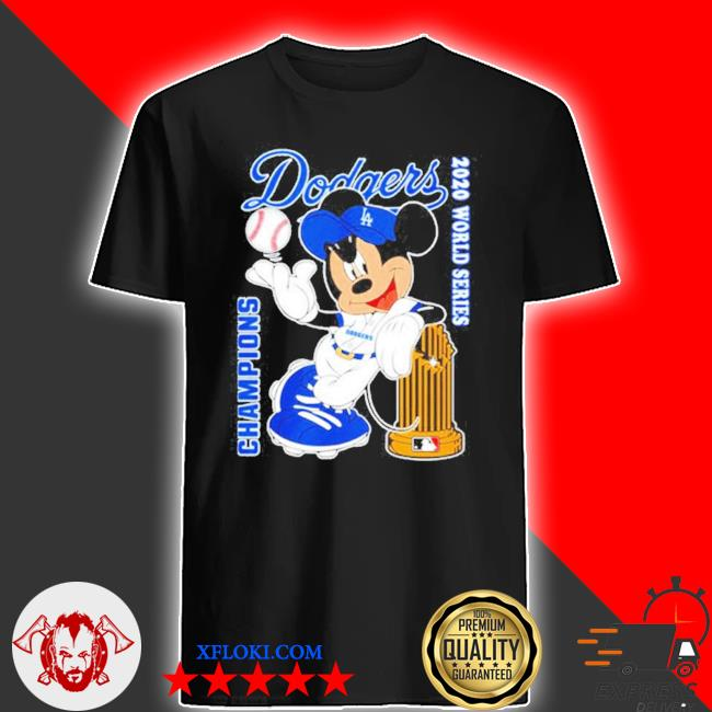 Los angeles dodgers mickey dodgers 2020 world series champions shirt