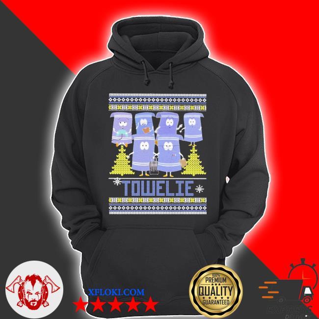 Towelie ugly Christmas sweater hoodie