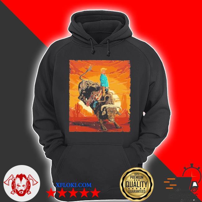 Trump rodeo bull rider american flag 2020 s hoodie