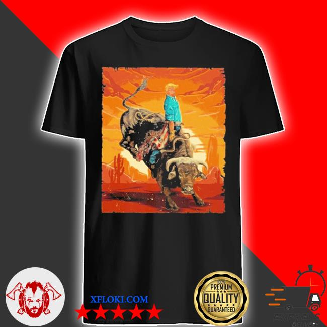 Trump rodeo bull rider american flag 2020 shirt