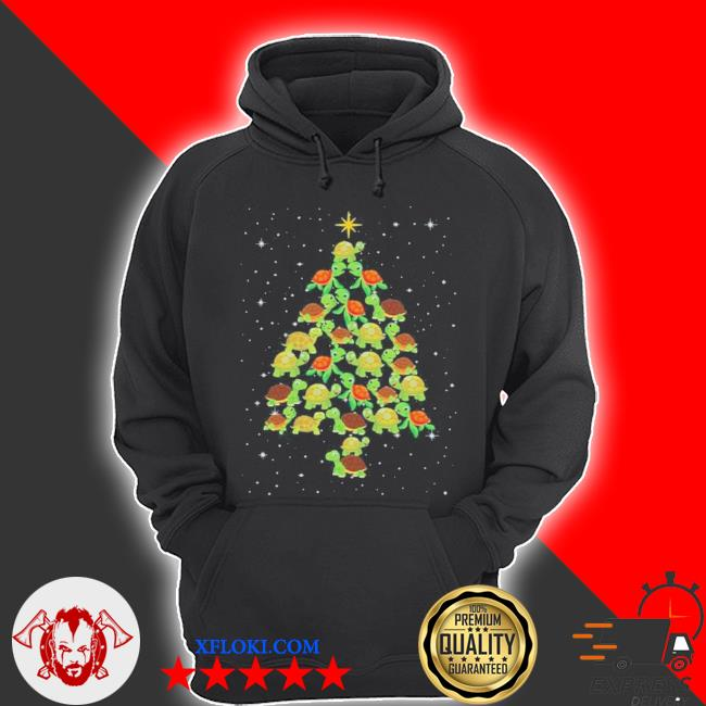Turtle Christmas tree ugly christmas sweater hoodie