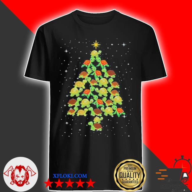 Turtle Christmas tree ugly christmas sweater