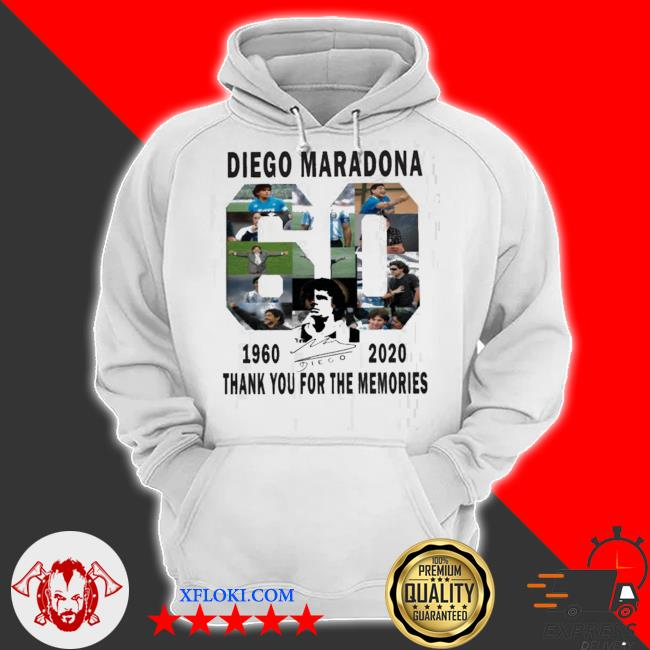 60 years Diego maradona 1960-2020 thanks you for the memories s hoodie