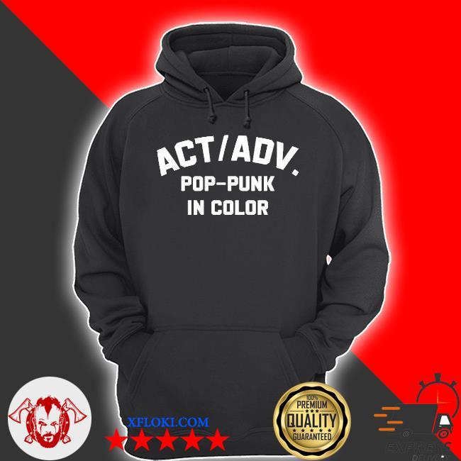 Action adventure merch pop punk in color s hoodie