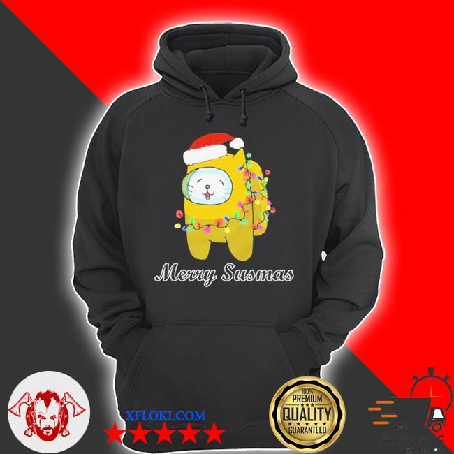 Among us cat christmas sweater hoodie