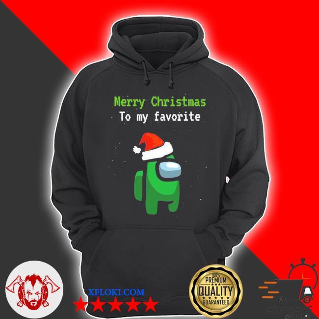 Among us gamer merry christmas to my favorite sweater hoodie
