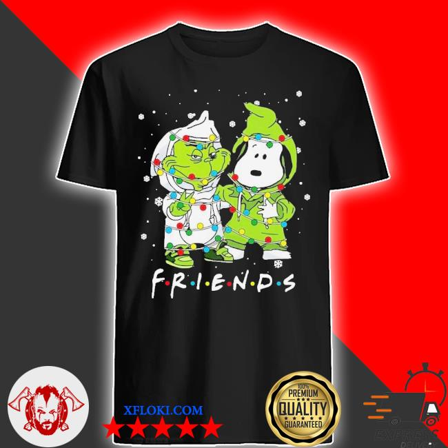 Baby grinch and snoopy friends merry Christmas light sweater