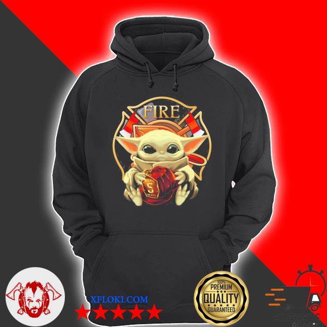Baby yoda hug firefighter fire s hoodie