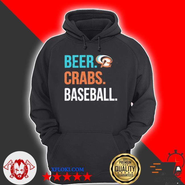 Beer crabs baseball s hoodie