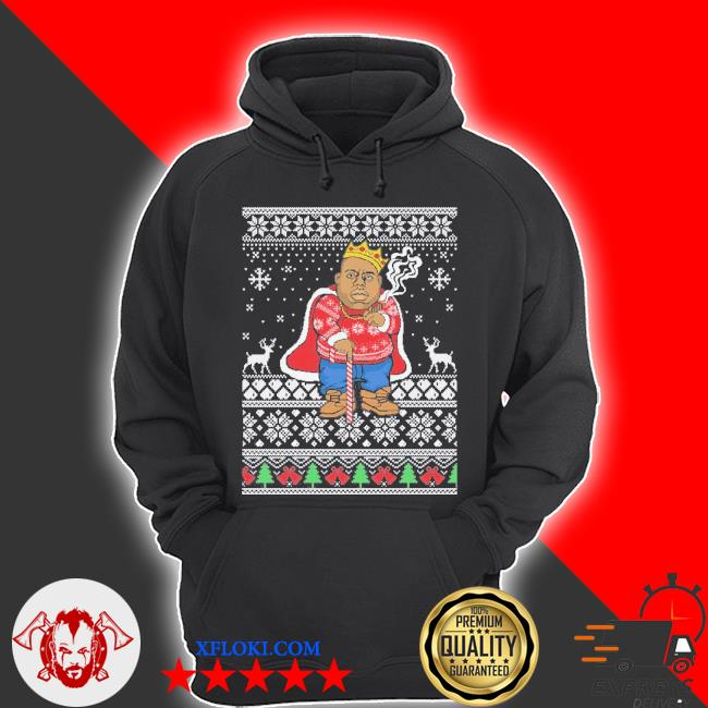 Biggie ugly Christmas sweater hoodie