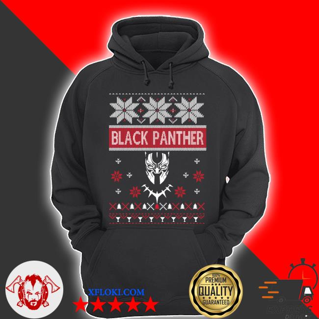 Black Panther ugly Christmas sweater hoodie