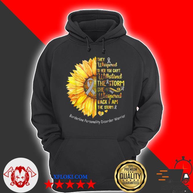 Borderline personality disorder warrior breast cancer sunflower s hoodie