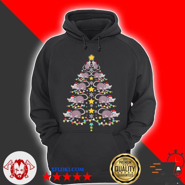 Christmas opossums tree Christmas tree lights s hoodie
