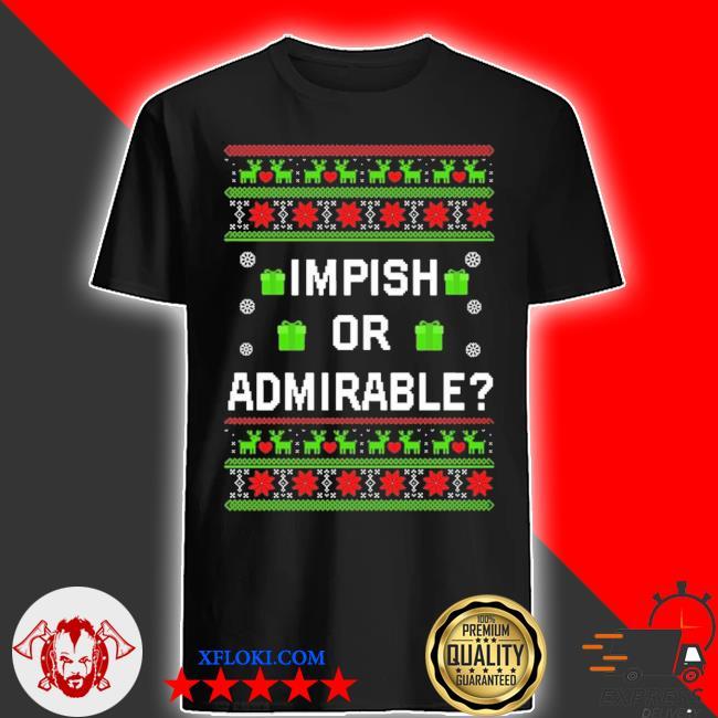 Impish or admirable christmas ugly Christmas sweater