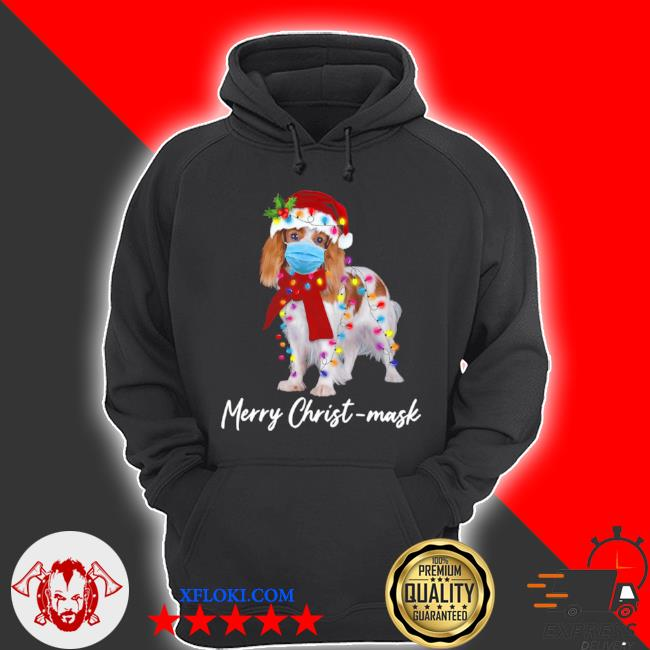 Merry christ mask merry Christmas light ugly sweater hoodie