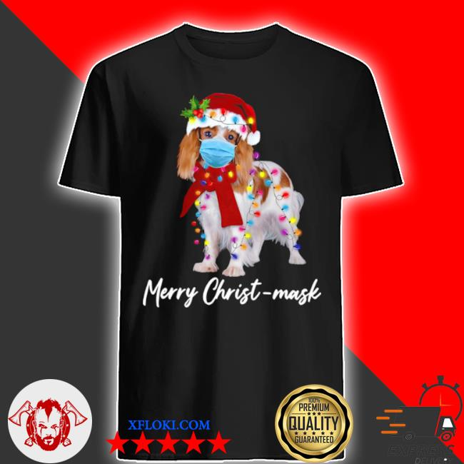 Merry christ mask merry Christmas light ugly sweater