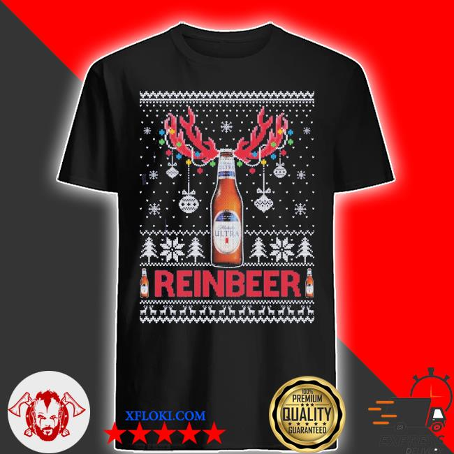 Michelob ultra ugly christmas sweater