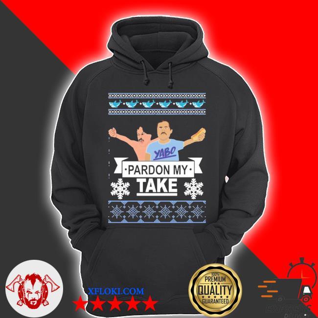 Pardon my take Christmas ugly sweater hoodie