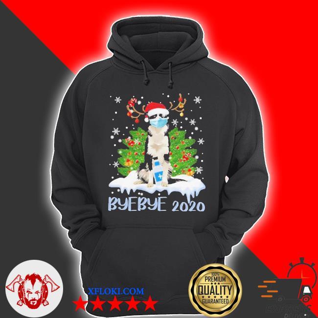 Santa bernese mountain dog face mask bye bye 2020 merry Christmas tree sweater hoodie