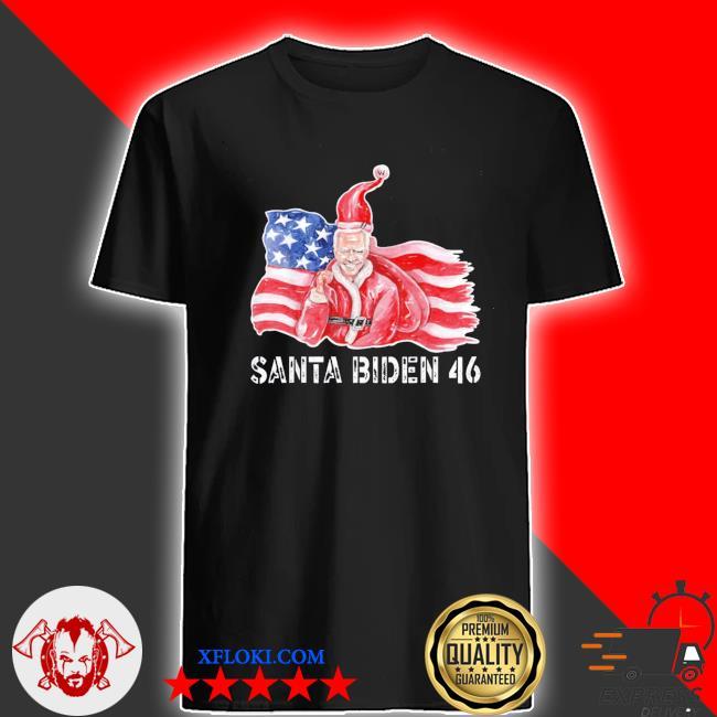 Santa biden harris 46 2020 we did it joe shirt