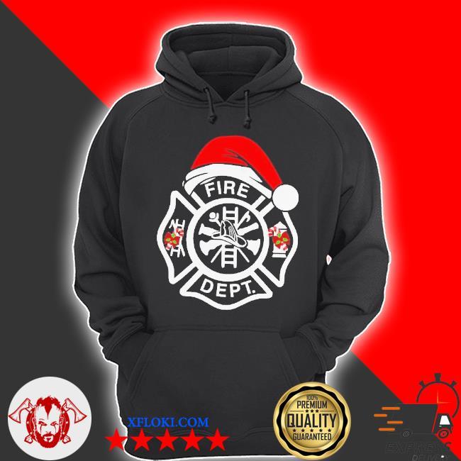 Santa fire dept merry Christmas sweater hoodie