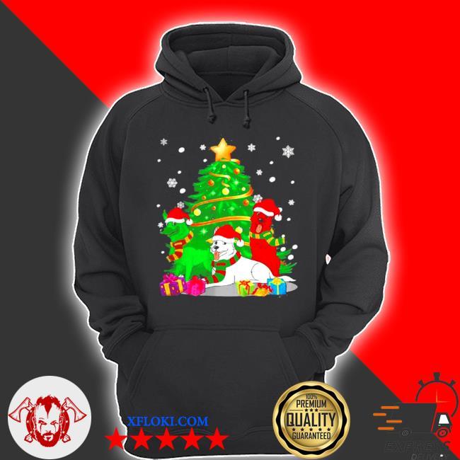 Santa german shepherd dogs Christmas tree 2020 sweater hoodie