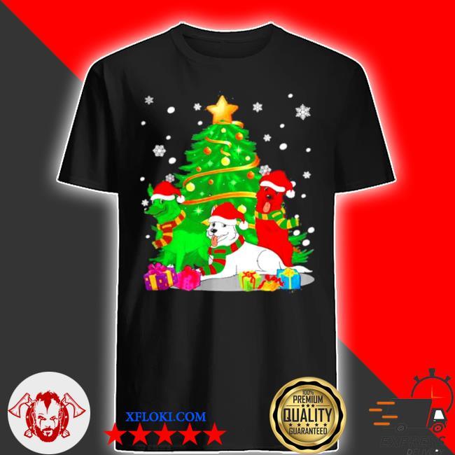 Santa german shepherd dogs Christmas tree 2020 sweater