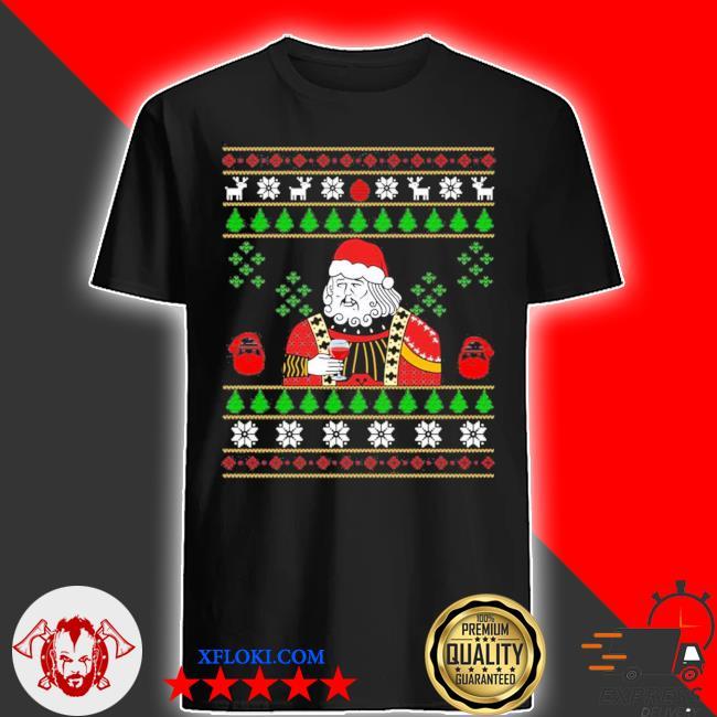 Santa leonardo big fat jumper ugly christmas sweater