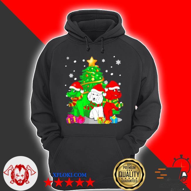 Santa poodle dogs Christmas 2020 sweater hoodie