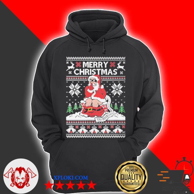 Santa toilet ugly Christmas sweater hoodie