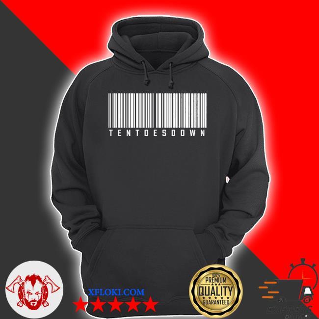 Ten toes down merch ten toes down barcode s hoodie